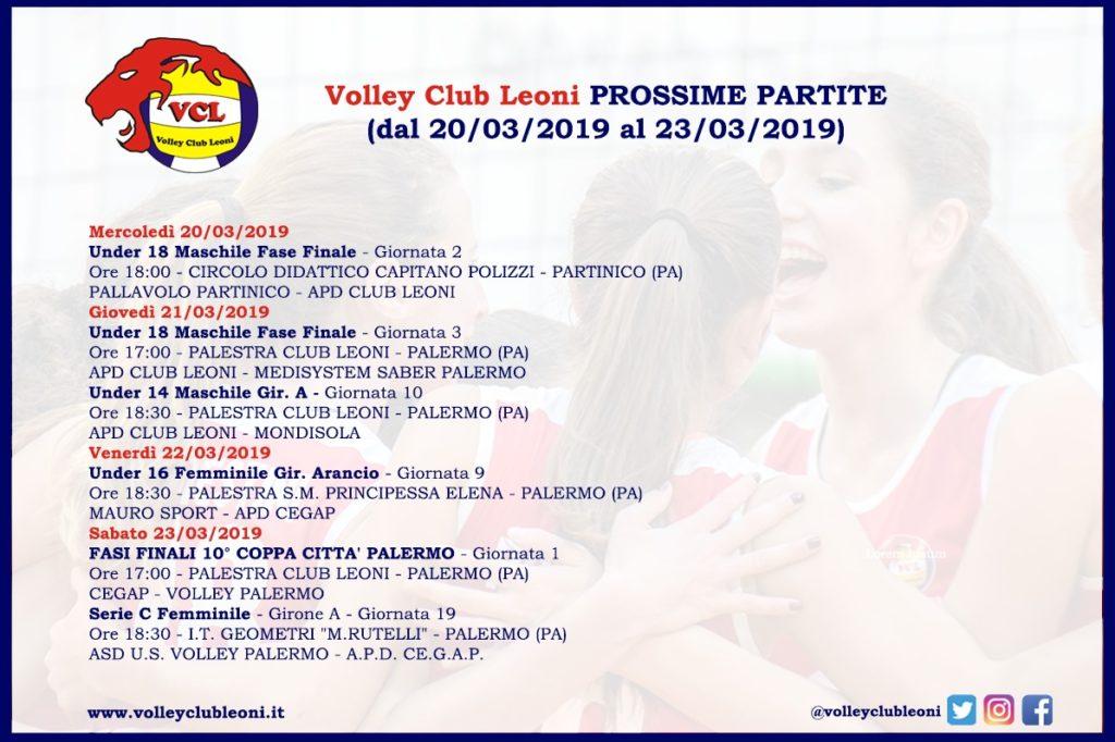Le prossime partite del Volley Club Leoni