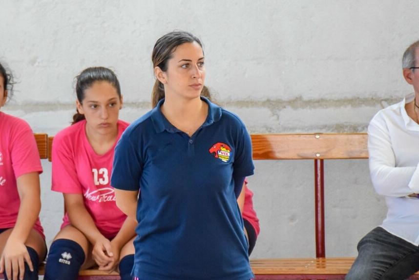 Carolina Catalano durante una partita delle sue leoncine