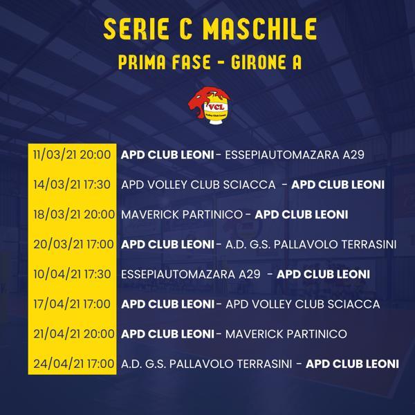 Serie C Maschile 2020/2021 Prima fase - girone A